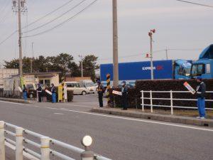 地域での交通安全立哨活動